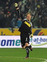 FUSSBALL   1. BUNDESLIGA  SAISON 2011/2012   18.  Spieltag   20.01.2012 Borussia Moenchengladbach   - FC Bayern Muenchen  JUBEL Torwart Marc Andre ter Stegen (Borussia Moenchengladbach)