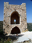 Monfort A Crusader castle in Western Galilee, Israel The ruins of the once splendid Montfort Crusader castle, are located on a precipitous rock crest, overlooking the Keziv river. The castle was constructed by Templar Crusader knights in the early 12th century. Short after completion the building was destroyed by Salah al Din after the defeat of the Crusaders at the Horns of Hittim on 3-4 July 1187.<br />