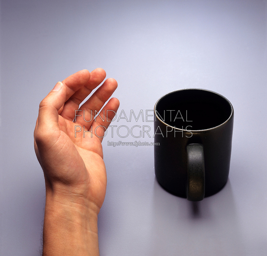 CHIRALITY: HUMAN HAND &amp; COFFEE MUG<br /> Comparing Chiral and Achiral Objects<br /> The chiral hand has a nonsuperimposable mirror image of itself, and has no plane of symmetry. The achiral mug has a symmetry plane along the handle, so that each side of the plane is a mirror image of the other.