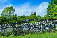 Castle of Dysert O'Dea, 15th Century tower house, near Corofin in County Clare, West of Ireland