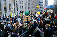 Protester march on Wall Street, during the Occupy Wall Street Protest in New York City October 6, 2011.