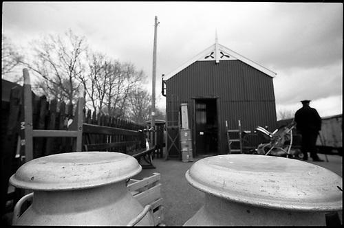 Milk Churns, Mid-Suffolk Light Railway by Paul Cooklin
