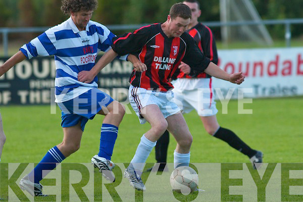 Castlegregory midfielder Fergal Murphy  v AC Athletic in their drawn.cup game at Mounthawk Park.