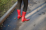 _SM14907, Russia, 2010, RUSSIA-10083. A woman wears red boots.