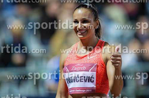 Andrea Ivancevic of Croatia after she competed in  100m Hurdles Women during IAAF World Challenge Zagreb - The 65th Hanzekovic Memorial Meeting, on September 8, 2015, in Stadium Mladost, Zagreb, Croatia. Photo by Vid Ponikvar / Sportida