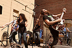 September 6, 2013. Raleigh, North Carolina. <br /> The Everymen at the Churchkey Records day party at Slim's.<br /> For the fourth year in a row, bands and fans hit the streets and venues of downtown Raleigh for the HOPSCOTCH music festival.