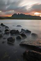 Sunset at Anahola Bay on Kauai's east side