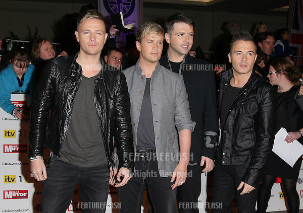 Westlife arriving for the 2010 Pride Of Britain Awards, at the Grosvenor House Hotel, London. 08/11/2010  Picture by: Alexandra Glen / Featureflash