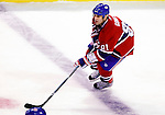 17 October 2009: Montreal Canadiens center Scott Gomez in action against the Ottawa Senators at the Bell Centre in Montreal, Quebec, Canada. The Senators defeated the Canadiens 3-1. Mandatory Credit: Ed Wolfstein Photo