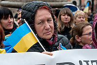 National demonstration of the Ukrainian community in Italy for recurrence of the second year of the aggression of Russia in Ukraine and against the illegal annexation of Crimea to the Russian Federation. Rome Italy. 28th Febraury 2016