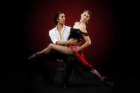 Barrington Lohr and Alex Christian poses for a marketing and promotion piece for Nevada Ballet Theatre.