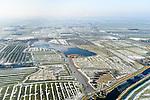 Nederland, Noord-Holland, gemeente Schermer, 28-10-2016; Polder de Menningweer met droogmakerij de Schermer in de achtergrond Winterlandschap.<br /> Small polder near Alkmaar, in the background polder Schermer. Winter Landscape.<br /> <br /> luchtfoto (toeslag op standard tarieven);<br /> aerial photo (additional fee required);<br /> copyright foto/photo Siebe Swart