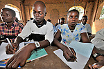 A class in the United Methodist graduate theological school in the Congolese village of Wembo Nyama.