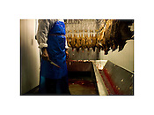"Chicken Butcher, Chaudhry Halal Meats, Staley, North Carolina, 2008 |  Jeremy M. Lange | $350 | Limited Edition 2 of 7 | Print - 20x24"" Light Jet Fuji Crystal Archive, lustre 