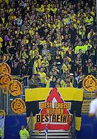 FUSSBALL   1. BUNDESLIGA   SAISON 2012/2013   4. Spieltag Hamburger SV - Borussia Dortmund               22.09.2012         Fans von Borussia Dortmund protestieren gegen die Preise beim Hamburger SV