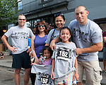 Post race photo with Stuart Kerber, Tammy Johnson, Kaitlyn Kikawa, Anna Kikawa, Kaela Kikawa, and Kevin Kikawa during the Main Street Mile in downtown Boise, Idaho on June 22, 2012.