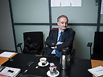 PARIS, FRANCE. DECEMBER 2, 2011. Jacques Attali at Les Echos' newsroom. Photo: Antoine Doyen