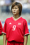1 August 2004: Han Duan. The United States defeated China 3-1 at Rentschler Field in East Hartford, CT in an women's international friendly soccer game..