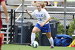 19 August 2012: Duke's Maddy Haller. The Duke University Blue Devils defeated the Elon University Phoenix 8-0 at Koskinen Stadium in Durham, North Carolina in a 2012 NCAA Division I Women's Soccer game.