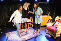 "Edinburgh, UK. 05.08.2016. Clean Break theatre company presents ""House"", by Somalia Seaton, directed by Roisin McBrinn, at Assembly Box, as part of the Edinburgh Festival Fringe. Picture shows: Shvorne Marks (Patricia), Rebecca Omogbehin (Jemima). Photograph © Jane Hobson."