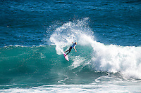 Margaret River, Western Australia (Saturday, April 18, 2015) Bianca Buitendag (ZAF)– Day five of the 2015 Drug Aware Margaret River Pro was called on today with the swell in the 6' range at the Main Break at Margaret River.  The swell was being held up by a strong SE offshore wind which swung to the NE by midday. The women's Rounds 2 through to 4 were completed before the event was called off for the day. Photo: joliphotos.com