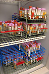 vials in racks waiting to be analyzed