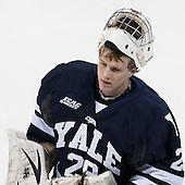 Connor Wilson (Yale - 29) - The Boston College Eagles tied the visiting Yale University Bulldogs 3-3 on Friday, January 4, 2013, at Kelley Rink in Conte Forum in Chestnut Hill, Massachusetts.