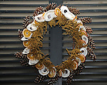 "Holiday Christmas wreath Colonial Williamsburg Virginia, wreath, holiday wreath, Christmas wreath, wreath, Colonial Williamsburg Virginia is historic district 1699 to 1780 which made colonial Virgnia's Capital, for most of the 18th century Williamsburg was the center of government education and culture in Colony of Virginia, George Washington, Thomas Jefferson, Patrick Henry, James Monroe, James Madison, George Wythe, Peyton Randolph, and others molded democracy in the Commonwealth of Virginia and the United States, Motto of Colonial Williamsburg is ""The furture may learn from the past,"""
