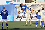 3 December 2006: UCSB's Greg Curry (right) leaps for a header against UCLA's David Estrada (24). California-Santa Barbara defeated California-Los Angeles 2-1 at Robert R. Hermann Stadium in St. Louis, Missouri in the NCAA men's college soccer tournament final game to win the 2006 NCAA Championship.