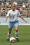 24 September 2006: UNC's Melissa Hayes. The University of North Carolina Tarheels defeated the University of Miami Hurricanes 6-1 at Fetzer Field in Chapel Hill, North Carolina in an NCAA Division I women's soccer game.