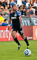 SANTA CLARA, CA – July 12, 2011: San Jose Earthquakes defender Justin Morrow (15) during the match between San Jose Earthquakes and West Bromwich Albion at the Buck Shaw Stadium in Santa Clara, California. Final score San Jose Earthquakes 2, West Bromwich Albion FC 1.