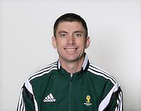 FUSSBALL Fototermin FIFA WM Schiedsrichterassistenten 09.04.2014 Matthew CREAM (Australien)