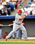 7 March 2012: St. Louis Cardinal infielder Zack Cox in action against the Washington Nationals at Space Coast Stadium in Viera, Florida. The teams battled to a 3-3 tie in Grapefruit League Spring Training action. Mandatory Credit: Ed Wolfstein Photo
