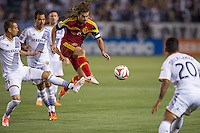 CARSON, CA - March 8, 2014: Real Salt Lake midfielder Kyle Beckerman (5) during the LA Galaxy vs Real Salt Lake match at the StubHub Center in Carson, California. Final score, LA Galaxy 0, Real Salt Lake  1.