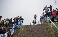 Dutch National CX Champion Mathieu Van der Poel (NED/Beobank-Corendon) is race leader<br /> <br /> elite men's race<br /> CX Superprestige Noordzeecross <br /> Middelkerke / Belgium 2017
