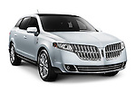 2010 Lincoln MKT luxury crossover. Isolated car on white background with clipping path.