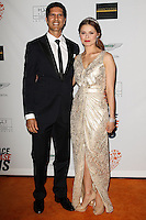 CENTURY CITY, CA, USA - MAY 02: Nevin Millan, Anna Trebunskaya at the 21st Annual Race To Erase MS Gala held at the Hyatt Regency Century Plaza on May 2, 2014 in Century City, California, United States. (Photo by Celebrity Monitor)