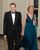 Marc Grossman, Special Representative for Afghanistan and Pakistan, and Mildred Patterson arrive for the Official Dinner in honor of Prime Minister David Cameron of Great Britain and his wife, Samantha, at the White House in Washington, D.C. on Tuesday, March 14, 2012..Credit: Ron Sachs / CNP.(RESTRICTION: NO New York or New Jersey Newspapers or newspapers within a 75 mile radius of New York City)