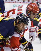 Ryan Flanigan (Merrimack - 20), Ryan Santana (BU - 15) - The visiting Merrimack College Warriors tied the Boston University Terriers 1-1 on Friday, November 12, 2010, at Agganis Arena in Boston, Massachusetts.