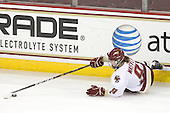 Taylor Wasylk (BC - 9) - The Boston College Eagles defeated the Boston University Terriers 2-1 in the opening round of the Beanpot on Tuesday, February 8, 2011, at Conte Forum in Chestnut Hill, Massachusetts.