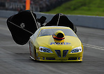 Jun. 19, 2011; Bristol, TN, USA: NHRA pro stock driver Rodger Brogdon during eliminations at the Thunder Valley Nationals at Bristol Dragway. Mandatory Credit: Mark J. Rebilas-
