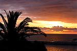 Post Storm: sunset at Corona del Mar, CA.