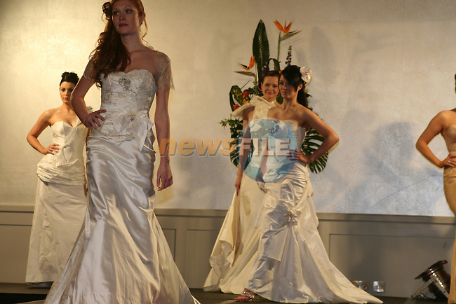Models wearing dresses from House of Delphine, Co.Kerry at the Wedding Fair in the City North Hotel...Photo NEWSFILE/Jenny Matthews.(Photo credit should read Jenny Matthews/NEWSFILE)....This Picture has been sent you under the condtions enclosed by:.Newsfile Ltd..The Studio,.Millmount Abbey,.Drogheda,.Co Meath..Ireland..Tel: +353(0)41-9871240.Fax: +353(0)41-9871260.GSM: +353(0)86-2500958.email: pictures@newsfile.ie.www.newsfile.ie.FTP: 193.120.102.198.