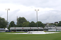 The covers are on as rain delays play during Essex CCC vs Hampshire CCC, Specsavers County Championship Division 1 Cricket at The Cloudfm County Ground on 19th May 2017