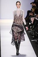 Suzie Bird walks the runway in an out by Max Azria, for the BCBGMAXAZRIA Fall 2011 fashion show, during Mercedes Benz Fashion Week.