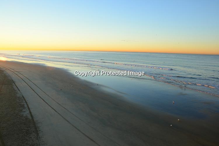 Early morning stock photo of Huntington Beach California