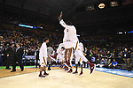 MILWAUKEE, WI - MARCH 16: Minnesota Gophers celebrate their entrance during the 2017 NCAA Men's Basketball Tournament held at BMO Harris Bradley Center on March 16, 2017 in Milwaukee, Wisconsin. (Photo by Jamie Schwaberow/NCAA Photos via Getty Images)
