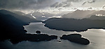 Aerial of Lake Manapouri. Fiordland National Park. New Zealand.