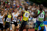 EUGENE, OR--From right, Sherridan Kirk, Khavedis Robinson, Gary Reed race in the men's 800m at the Steve Prefontaine Classic, Hayward Field, Eugene, OR. SUNDAY, JUNE 10, 2007. PHOTO © 2007 DON FERIA