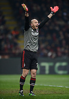 FUSSBALL  CHAMPIONS LEAGUE  ACHTELFINALE  HINSPIEL  2012/2013      AC Mailand - FC Barcelona     20.02.2013 Torwart Christian Abbiati (AC Mailand)